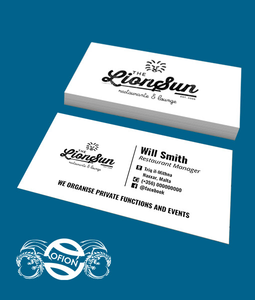 Business cards classic non standard 85cm x 5cm ofion business cards ofion print non standard reheart