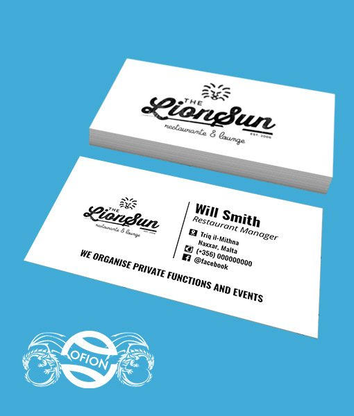 Business cards classic us standard 9cm x 5cm ofion business cards ofion print us standard reheart Gallery