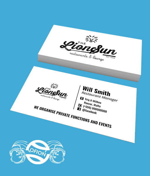 Business cards classic us standard 9cm x 5cm ofion business cards ofion print us standard reheart Choice Image
